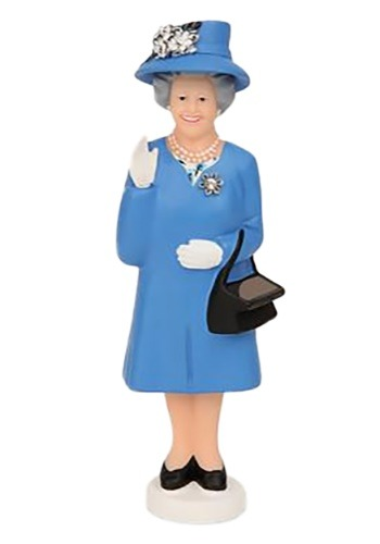 Solar Powered Waving Queen Figure