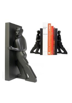 Pushing Men Bookends