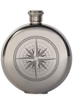 5 oz Compass Canteen Stainless Steel Flask