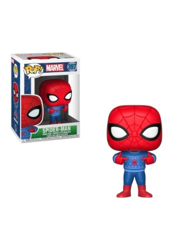 Pop! Marvel Holiday Spider-Man with Ugly Sweater Update1