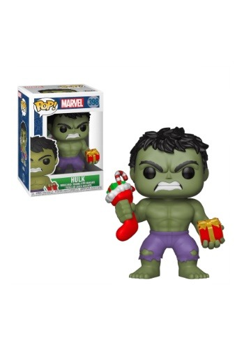 Pop! Marvel Holiday Hulk with Stocking & Plush Update1