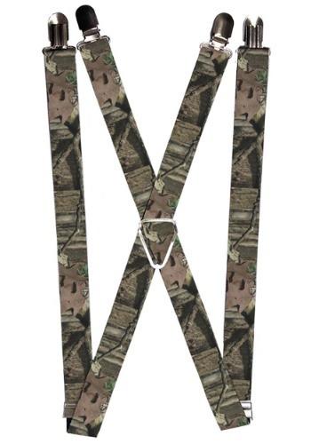 "Mossy Oak 1"" Camo Suspenders"