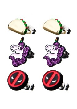 Deadpool 3 Pack Stud Earrings