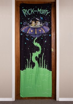 "Rick and Morty Spaceship 26"" x 78"" Door Banner"
