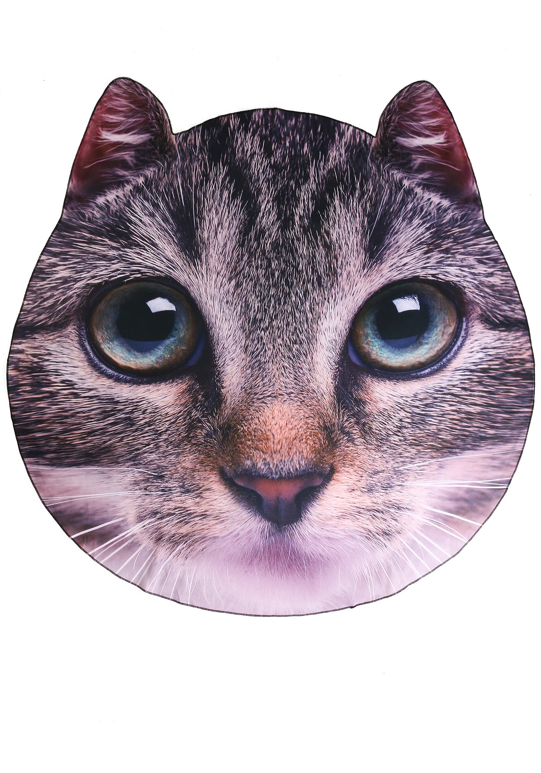 Photo Realistic Cat Face Blanket 60