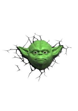 Star Wars Yoda Face 3D Light