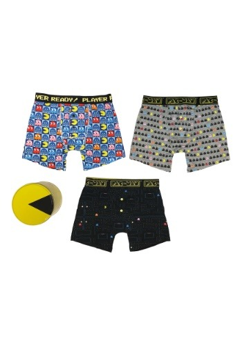 Mens Pac-Man Boxer Brief 3 Pack with Tin