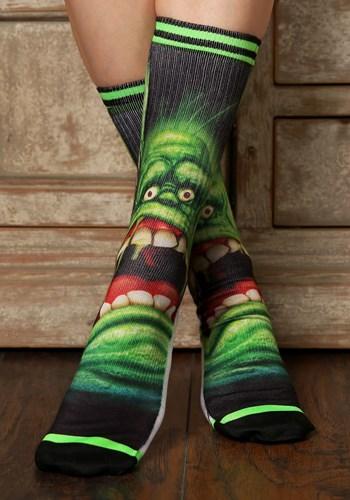 Men's Ghostbusters Slimer Crew Socks Updated