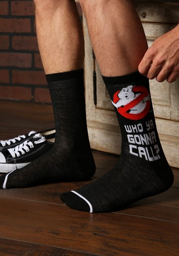 Men's Ghostbusters- Who ya Gonna Call? Crew Socks Updated