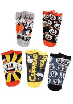 Womens Cuphead 5-Pair Pack Low-Cut Socks
