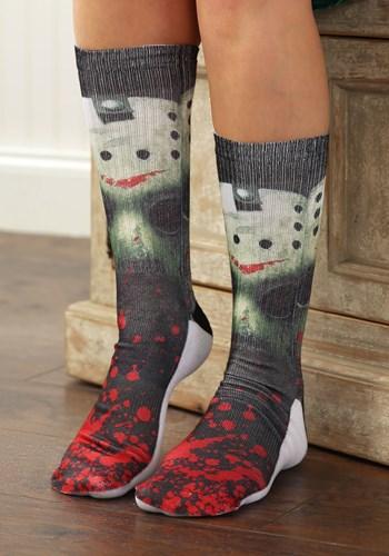 Friday the 13th Jason Mask Men's Crew Socks Main uPD
