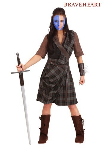 Women's Braveheart Warrior Costume 1