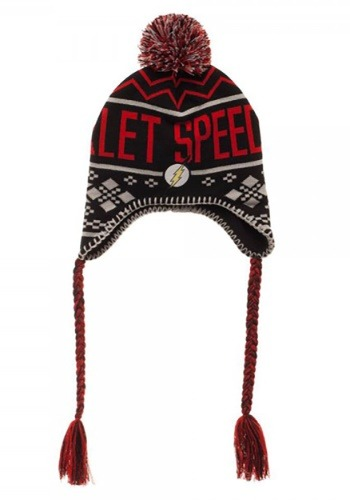 Adult The Flash Scarlet Speedster Embroidery Acrylic Hat