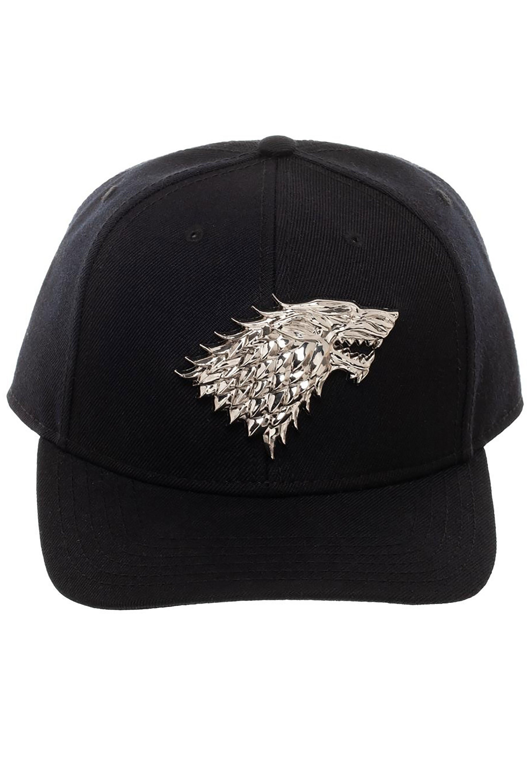 House Stark Game of Thrones Snapback with 3D Metal Sigil 8cf1ee1d0bf
