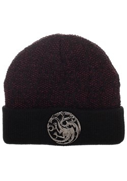 Game of Thrones House Targaryen Beanie w/ 3D Metal front Sig