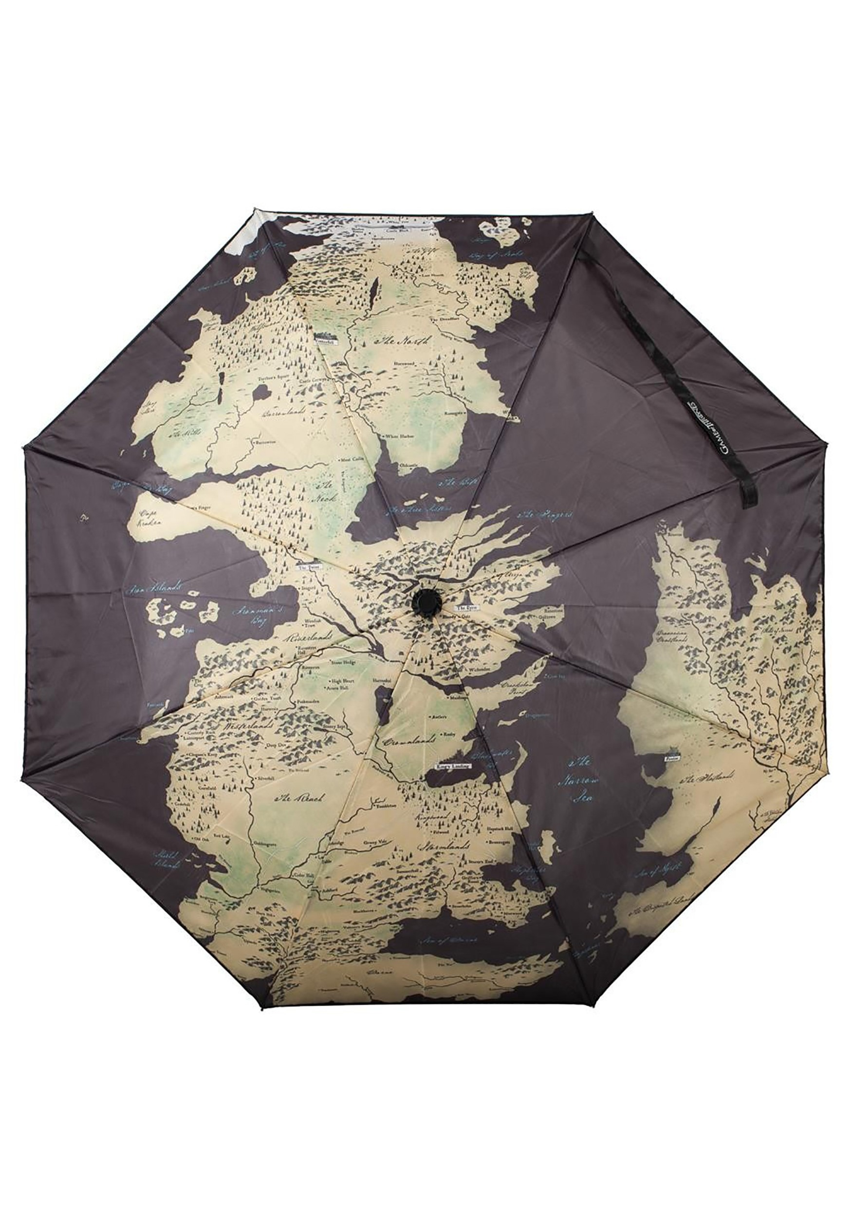 Game Of Thrones World Map Compact Black Umbrella