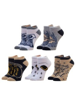 Junior's Harry Potter 5 Pack Ankle Socks