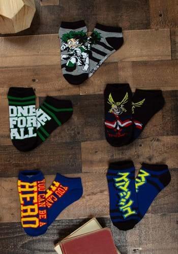 My Hero Academia 5 Pack Ankle Socks