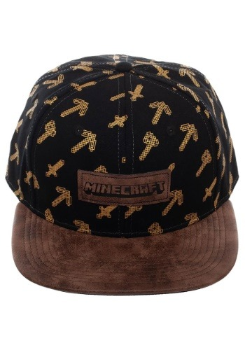 Minecraft Tools Black & Brown Snapback Hat