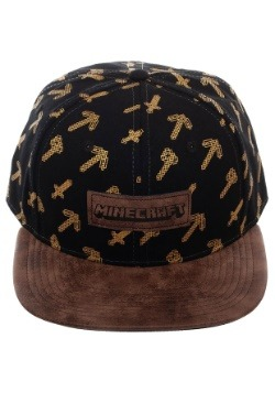 Minecraft Tools Black & Brown Snapback Hat