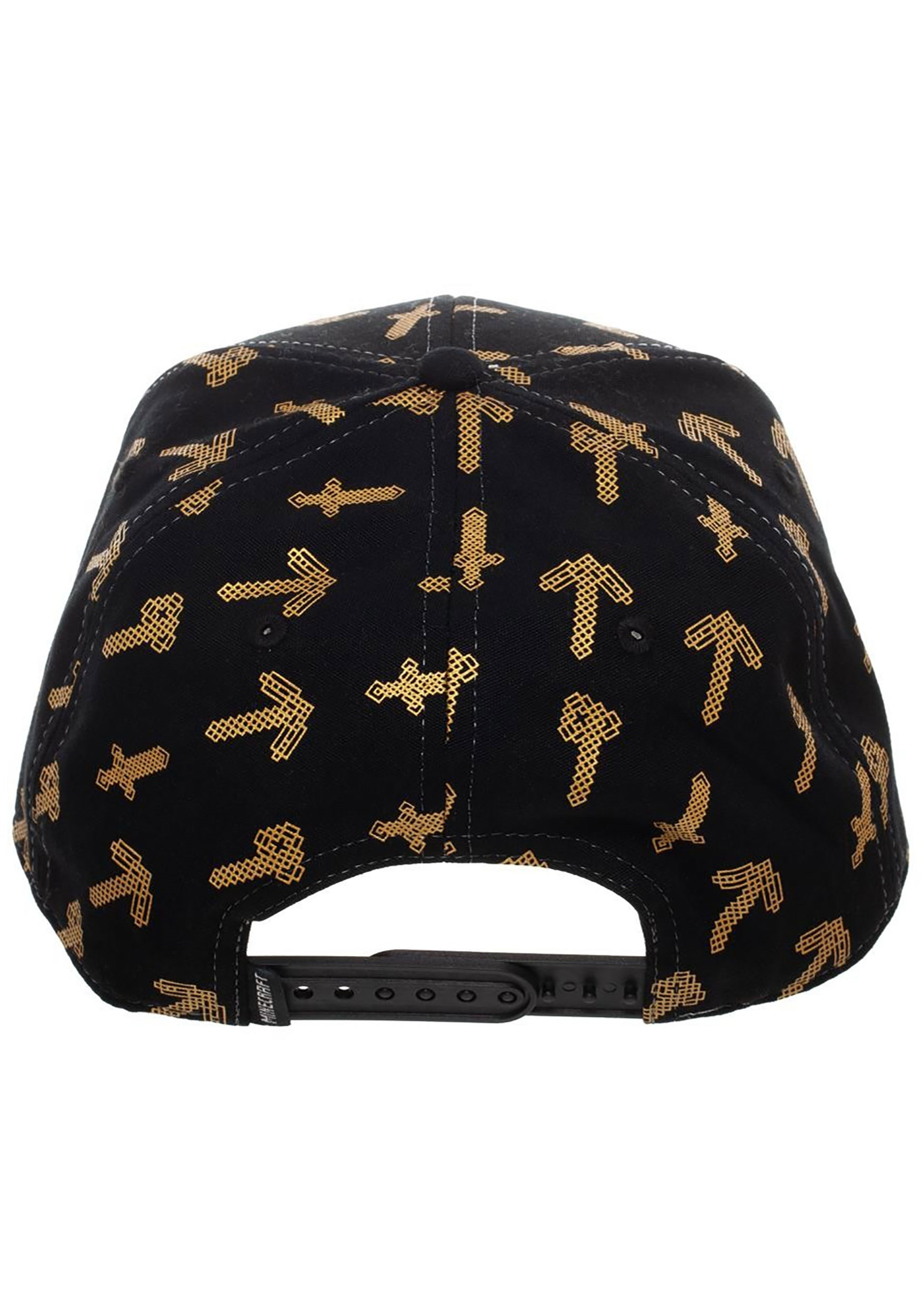 Minecraft Tools Black Amp Brown Snapback Hat For Adults