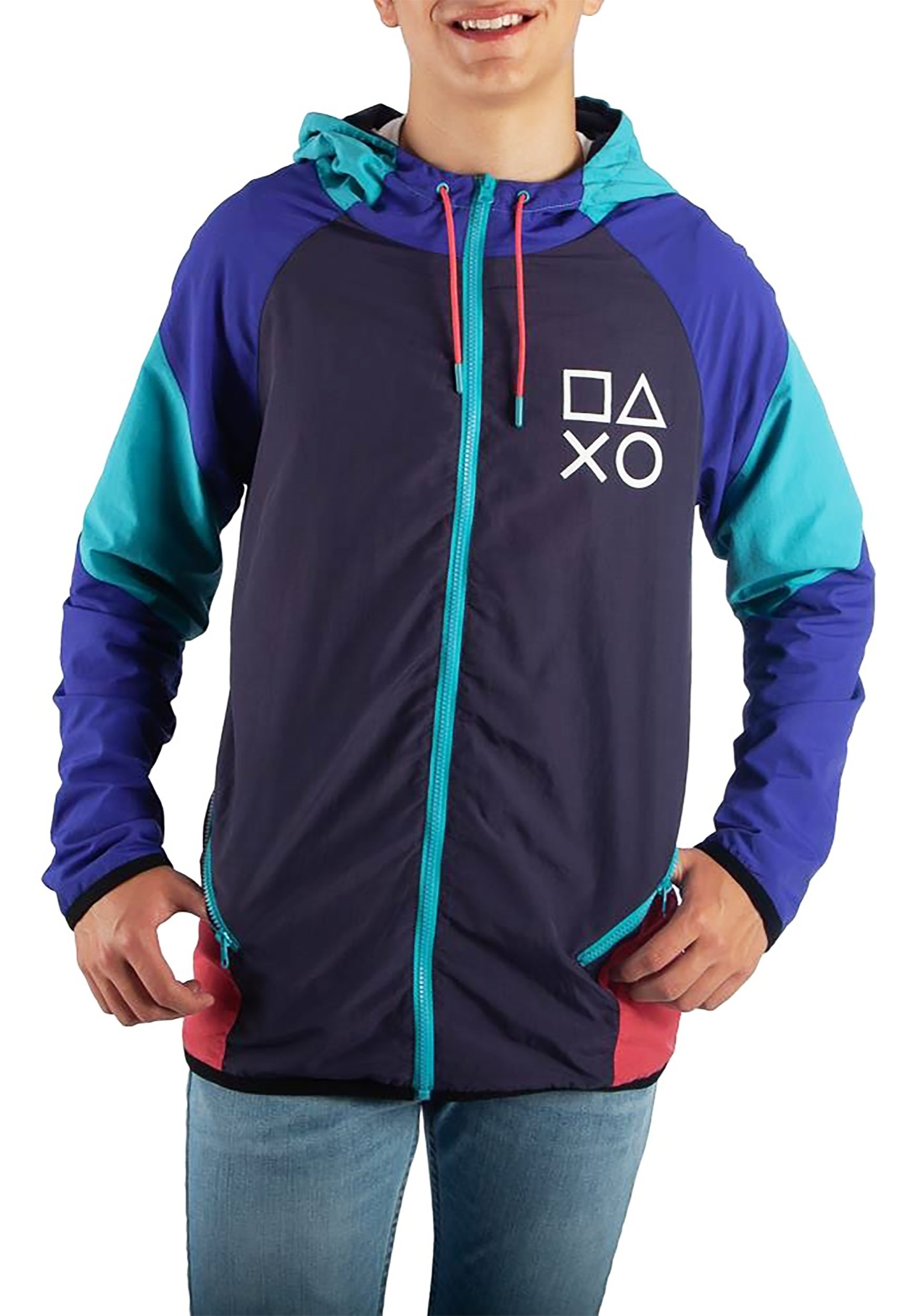 PlayStation Color Block Adult Windbreaker Jacket 21c575f23