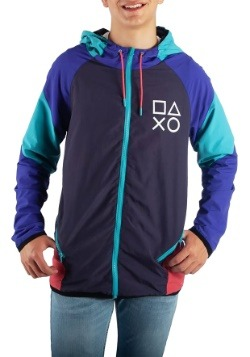 Adult PlayStation Color Block Windbreaker Jacket