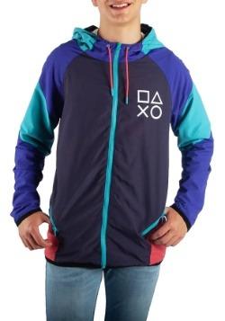 Adult PlayStation Color Block Windbreaker Jacket