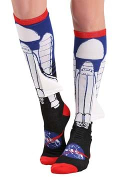 NASA Space Ship w 3D Wing Knee High Adult Socks Upd