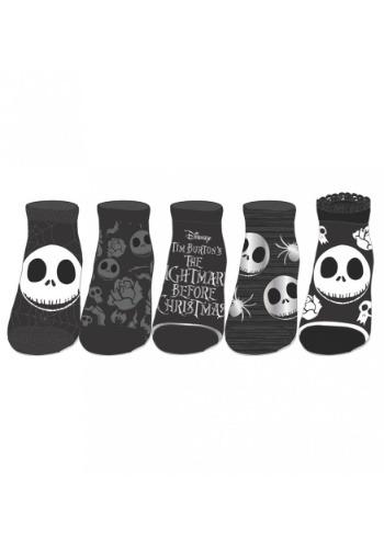 Nightmare Before Christmas 5-pack Ankle Socks
