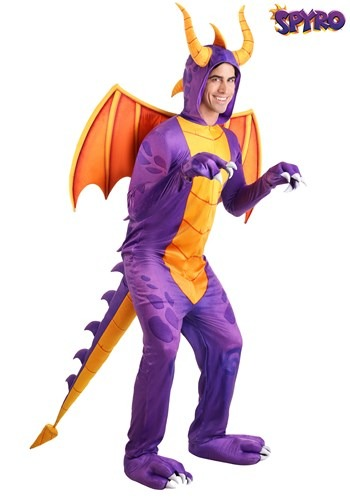 Spyro the Dragon Costume for Adult Jumpsuit
