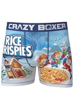 Crazy Boxers Mens Rice Krispies Boxer Briefs