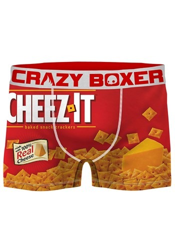 Mens Crazy Boxers Cheez-It Red/White Boxer Briefs