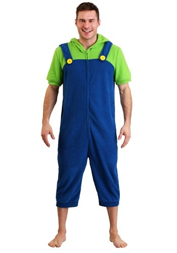 Men's Luigi Cosplay Romper