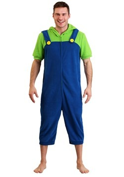 Men's Luigi Cosplay Romper Update Main