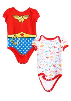 Wonder Woman Girls Newborn Onesie 2-Pack1new