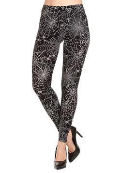 Women's All-Over Print Spiderweb Leggings