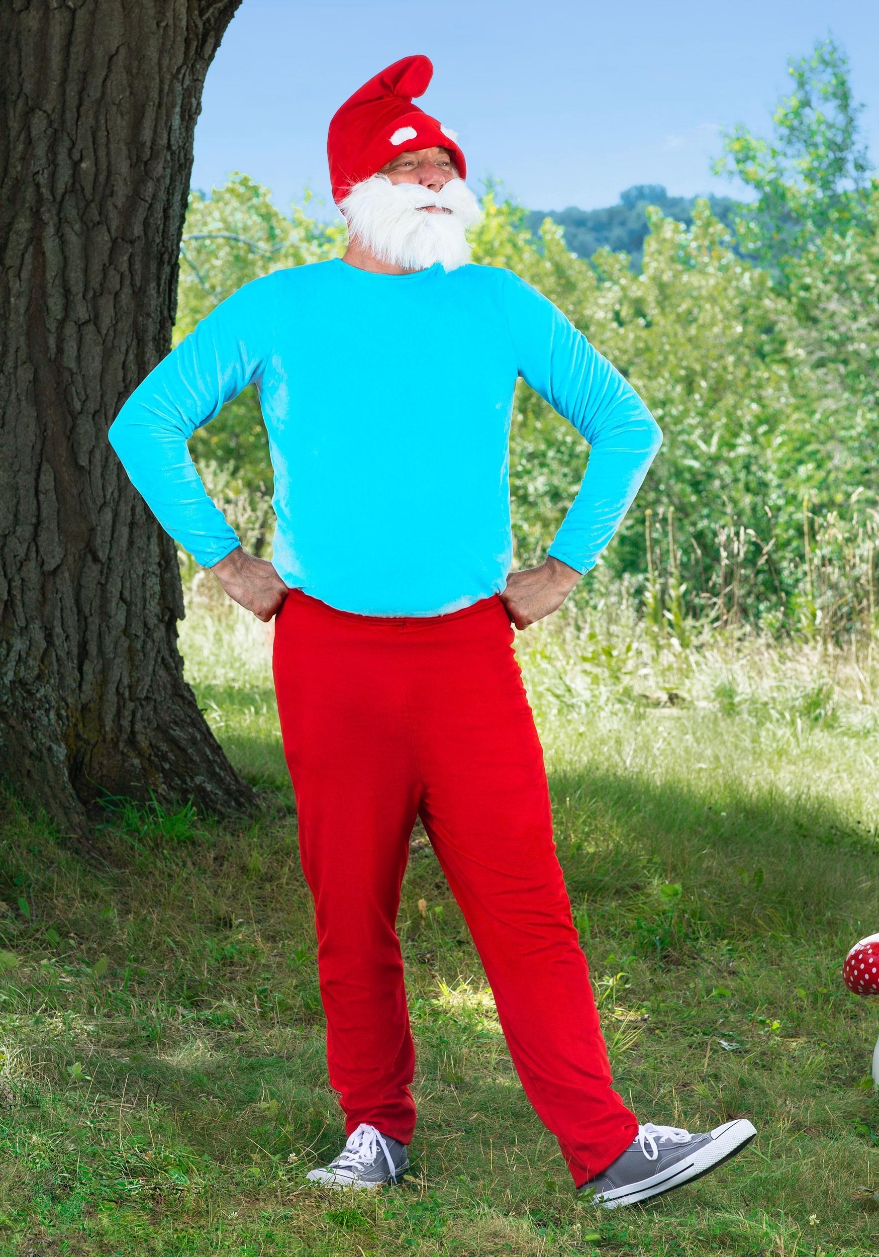 The Smurfs Papa Smurf Adult Costume-5780
