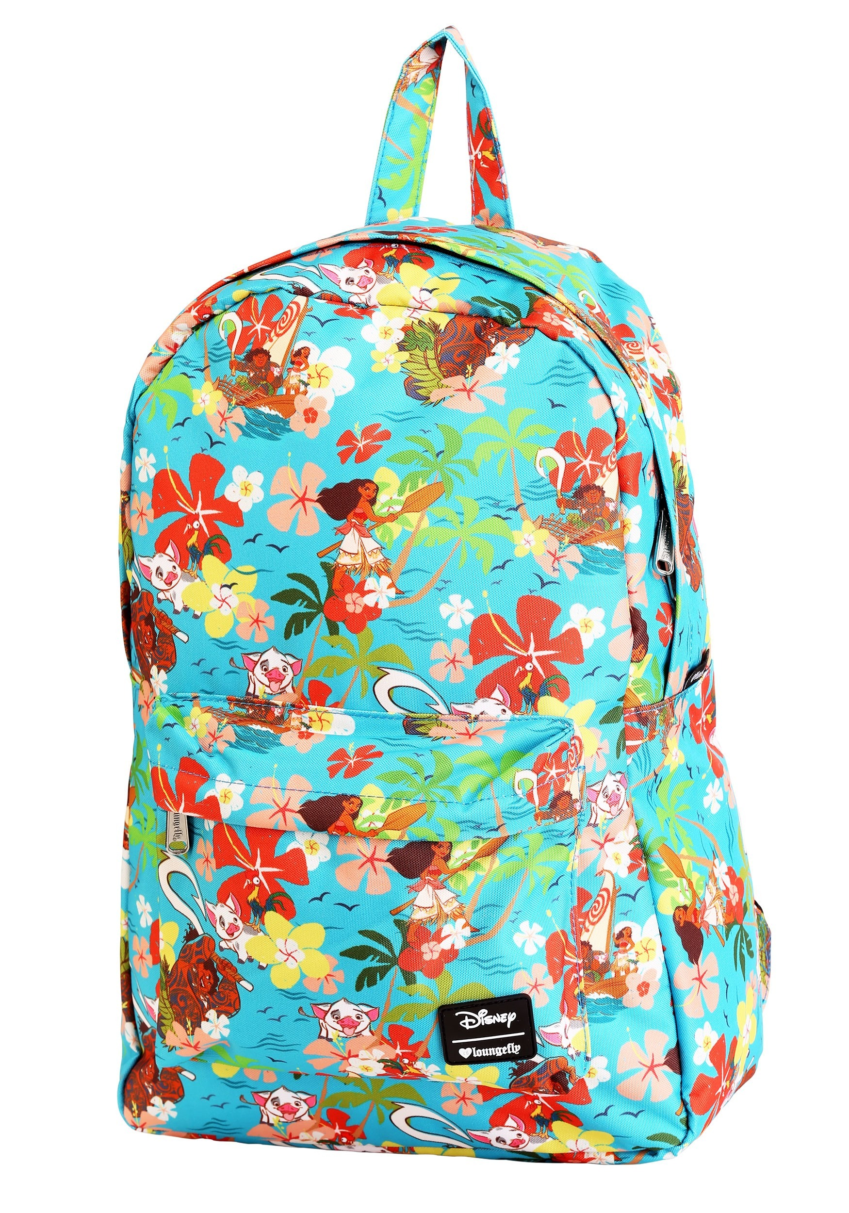 c0cd3a93ab4 Disney s Moana Floral All Over Print Loungefly Backpack