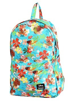 Disneys Moana All Over Floral Print Loungefly Backpack