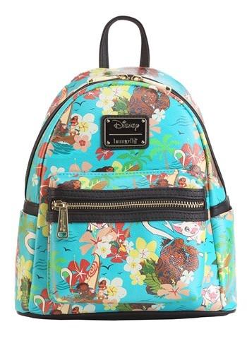Loungefly Disneys Moana All Over Print Teal Mini Backpack