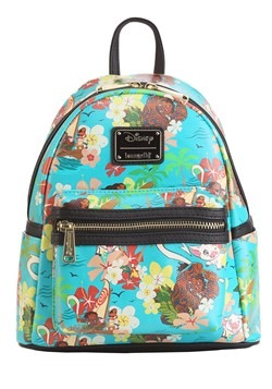 Loungefly Disneys Moana All Over Print Teal Mini Backpack