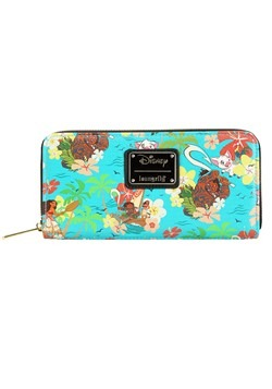 Loungefly Disneys Moana Teal Zip Around Wallet