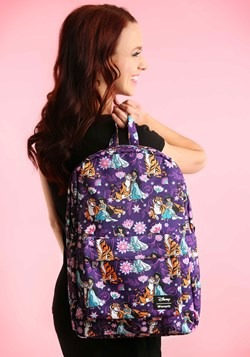 Loungefly Disney's Aladdin- Jasmine and Rajah Print Backpack