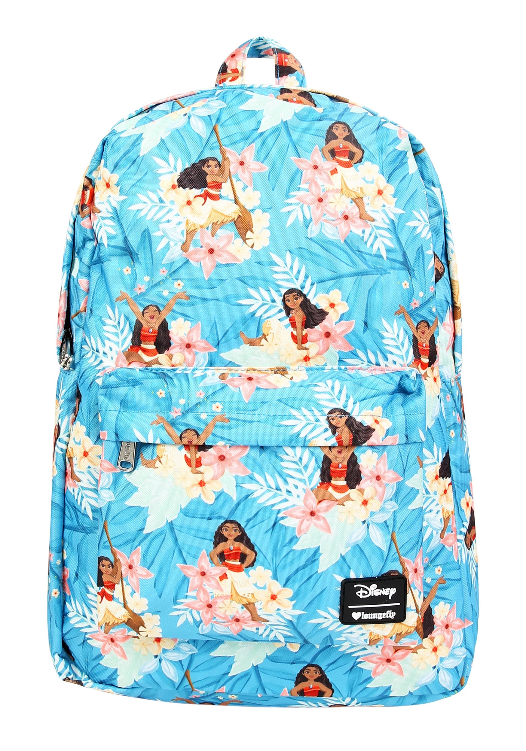 Loungefly Disney S Moana Blue Print Floral Backpack