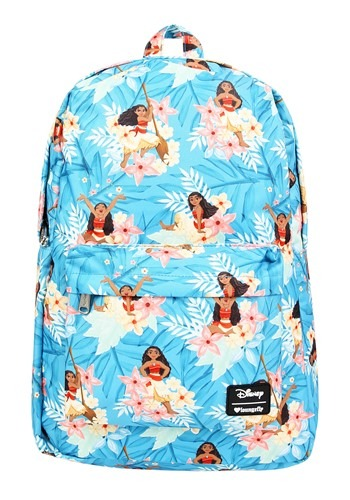 Loungefly Disneys Moana Blue Floral Print Backpack