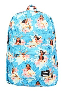 Loungefly Disney's Moana Blue Floral Print Backpack