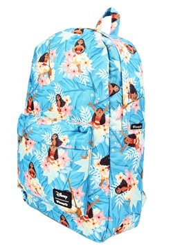 Loungefly Disneys Moana Blue Floral Print Backpack2