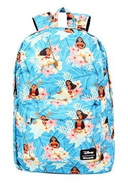 Loungefly Disneys Moana Blue Floral Print Backpack33