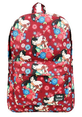 Loungefly Disneys Mulan Floral Print Backpack